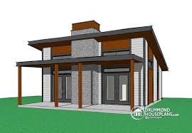 Cottage Open Floor Plan W1909 Bh Small Modern Cabin Scandinavian Inspired Cottage 2