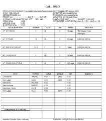 production call sheet template selimtd