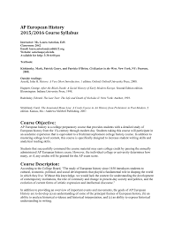 ap european history 2015 2016 course syllabus