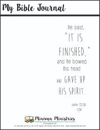 easter bible journal printables for kids minivan ministries
