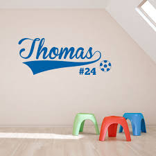 soccer player wall art decal