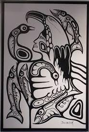 haida salmon art httpaprilwhitecomartvserigraphs picture picture