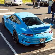 miami blue porsche mexico blue porsche 991 gt3 6speedonline porsche forum and