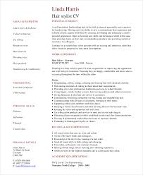 hair stylist resume exles hair stylist resume exle 6 free pdf psd documents