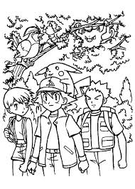 ash ketchum and friends coloring page me being a kid doing kid
