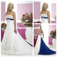 cheap royal blue and white wedding dresses free shipping royal