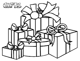 christmas gifts coloring pages kids christmas coloring pages