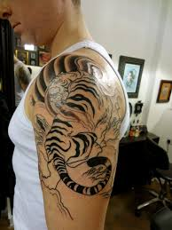japanese tiger sleeve chest design idea for and