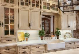 How To Reface Cabinets With Beadboard Distressed White Kitchen Cabinets Kitchen Mediterranean With