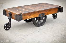 Wood Pallet Furniture Living Room Furniture Industrial Coffee Table With Wheels Ideas Brown