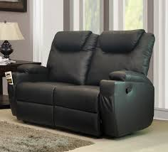 dark gray faux leather lazy loveseat with recliner and pillow top