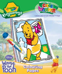disney winnie pooh colouring pack crayola color
