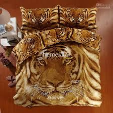 personal 3d visual animal bedlinen bed sets tiger pattern poweful