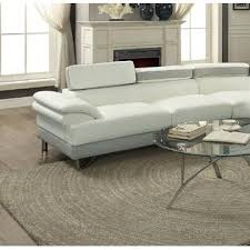 Sectional Sofa White Esofastore Living Room Furniture Classic White Faux Leather 2pcs