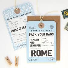 luggage tag save the date luggage tag save the date by paper and inc notonthehighstreet