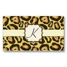 zebra print hair stylist hairdresser salon spa business card