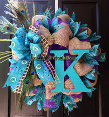 summer wreath peacock wreath burlap deco mesh wreath