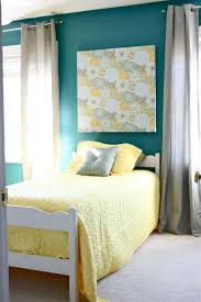 Yellow Accent Wall Teal Yellow And Gray Love This This Is Almost The Exact Color Of