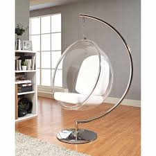 chairs bubble chair modway ring lounge acrylic with steel rim