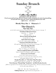 menu for brunch brunch menu riviera supper club turquoise room