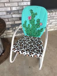 patio furniture rehab unique cactus and leopard vintage lawn chair