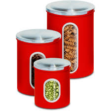 Red Kitchen Canisters Ceramic by Red Kitchen Canister Sets
