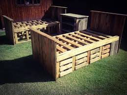 diy pallet bed frame with storage instructions galleryimage co