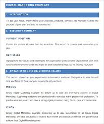 marketing plan example the sample marketing plan free download