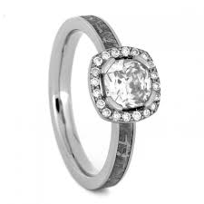 palladium engagement rings diamond halo engagement ring with moissanite center