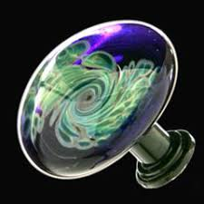 Green Glass Cabinet Knobs Cabinet Hardware Hand Blown Glass Art Wine Glasses Bottle Tops