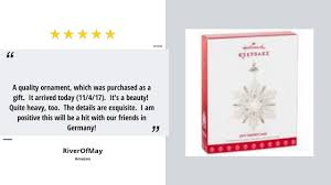 discount hallmark keepsake 2017 snowflake dated porcelain