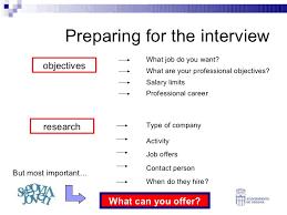 professional objectives entrevistas de trabajo en inglés