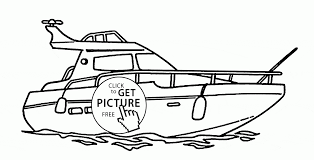 real yacht coloring page for kids transportation coloring pages