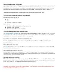 resume templates free download for microsoft word job template