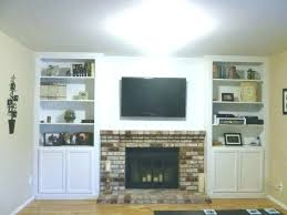 built in cabinets around fireplace built ins next to fireplace built ins part in cabinets next to brick