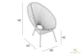 Lounge Chair Dimensions Standard Acapulco Lounge Chair Hl Aca Lc Harmonia Living Patio