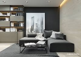 interior design small black and white studio apartment adorable