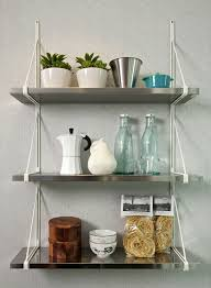 Stainless Steel Kitchen Shelves by Kitchen Wall Mounted Kitchen Shelves With Charming Kitchen