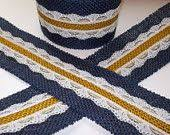 navy lace ribbon burlap ribbon with navy lace ribbon 2 inch x 3 yards burlap