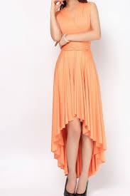 light orange high low infinity dress bridesmaids dresses hl 35