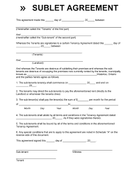 Resume Writer Direct 40 Professional Sublease Agreement Templates U0026 Forms Template Lab