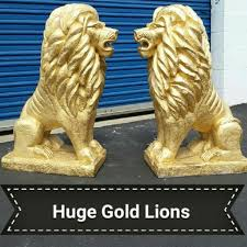 gold lion statues best gold lion staues for sale in rancho cucamonga california for