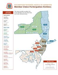 North East Map Nrcc Mup Hotline Map Northeast Regional Council Of Carpenters