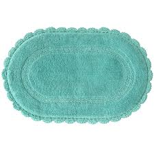 Aqua Bathroom Rugs Carlin Reversible Bath Rug Aqua Sea