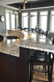 Kitchen Island With Table Attached by Best 20 Round Kitchen Island Ideas On Pinterest Large Granite