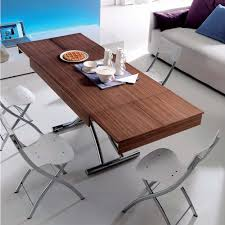 multi purpose dining table passo coffee to dining table with two self storing leaves that