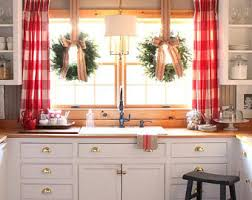 red curtains etsy