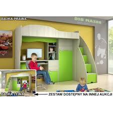 kids loft bed with desk bajka kids bunk