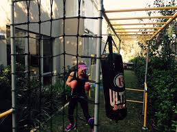 funky monkey bars for the whole family to workout backyard
