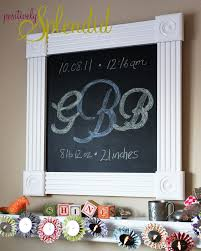 diy framed chalkboard tutorial positively splendid crafts